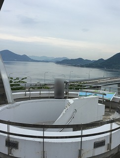 大三島にある「多々羅展望台」からの景観