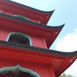安佐南区の山腹にある赤い三重の塔を目指して ~緑井毘沙門天~
