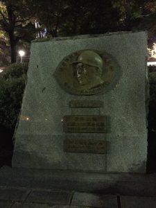 衣笠選手の連続出場記録記念碑