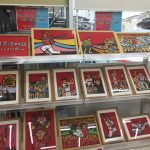 金座街の廣文館書店で新井さん絵本原画展が開催中。中田廉投手応援袋、黒田ユニも在庫アリ