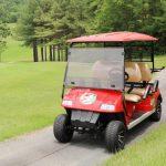 カープコラボの真っ赤なゴルフカートが登場!価格は110万円