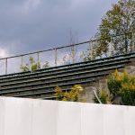 """<span class=""""title"""">旧広島市民球場跡地に残されていた「ライトスタンド」の一部が「勝鯉の森」へ</span>"""