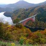 アーチ式ダムで西日本一の高さを誇る「温井ダム」!猪山展望台からの景観も抜群です