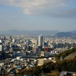 東区にある「尾長山」からの眺望も抜群!宮島まで望めます