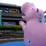 マツダスタジアム「かば広場」に設置されていた6代目カーパくんがアストラムライン上安駅に!