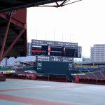 改修工事中だったマツダスタジアムのスコアボードが完成したようです!