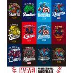 MARVELキャラクターとプロ野球全12球団とのコラボグッズが登場!4月末日より随時販売