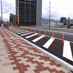 マツダスタジアムのそばにある、先月末開通した「東大橋」の現在の様子