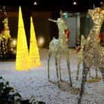 ANAクラウンプラザホテルでクリスマスイルミネーション開始!庭園にはかわいいトナカイも