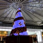 広島駅北口に巨大なクリスマスツリーが登場!本日11/8(金)の点灯式ではスラィリーも来場
