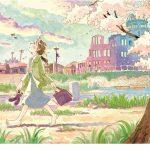 アストラムライン本通駅にこうの史代さんの代表作の一つ「夕凪の街 桜の国」がLED内蔵のステンドグラスで!
