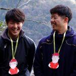 カープの新入団選手が「滝登り」のように活躍を祈願して参拝する、湯来町の「湯の山明神社」
